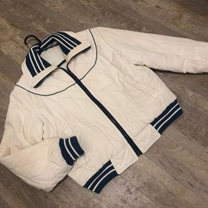 Vintage sports coach jacket with classic tipping